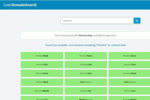 lean search domain