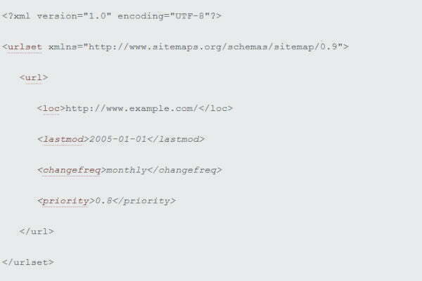 Structure of an XML Sitemap